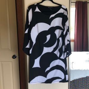 INC geometric print dress